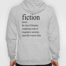 Fiction Definition (Black on White) Hoody