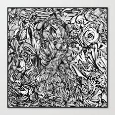 Conquer (Black & White Version)  Canvas Print