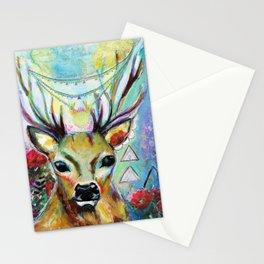 Deer Heart Stationery Cards