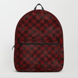 Red Plaid Snowflakes Believe in the magic of Christmas Typography Backpack