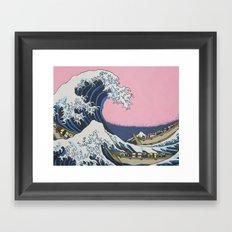 Sushi Waves Framed Art Print