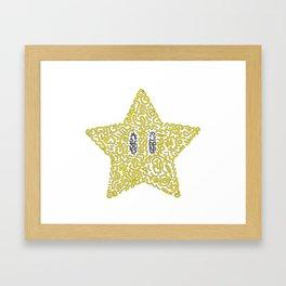 Mario's Star Framed Art Print