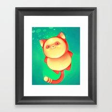 Green Pudding Framed Art Print