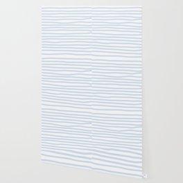 Light Blue Stripes Horizontal Wallpaper