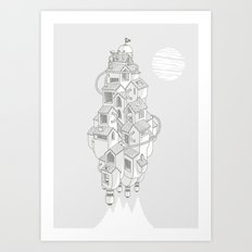 Homemadespaceship Art Print