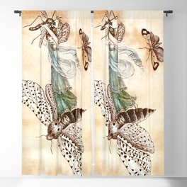 """Fairy Riding on a Bee"" by Amelia Jane Murray Blackout Curtain"