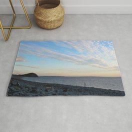 Watercolor People in Nature, NSS, Photography 02, Cape Breton, Nova Scotia, Canada Rug