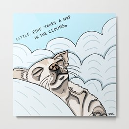 Little Edie Takes A Nap In The Clouds Metal Print