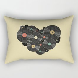 Heart of a Vinyl Lover Rectangular Pillow