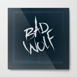 bad wolf Metal Print