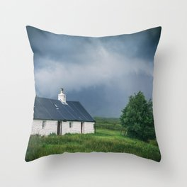 Cottage in Glencoe II Throw Pillow