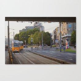 Budapest City Train Canvas Print