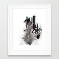 oil Framed Art Prints featuring OIL by CITYABYSS
