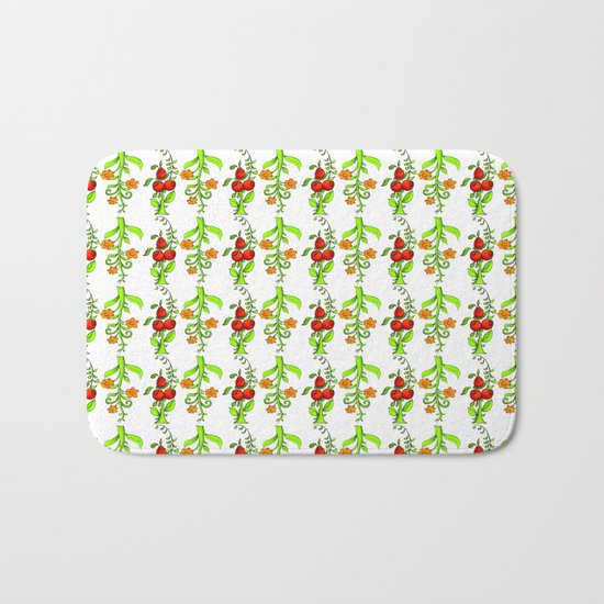 bright trees and fruits Bath Mat