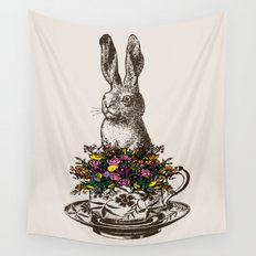 Rabbit in a Teacup Wall Tapestry