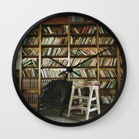 library Wall Clocks featuring Library by dekko