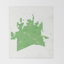 McKinney Texas Minimalist Map (Cucumber) Throw Blanket