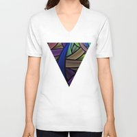 the strokes V-neck T-shirts featuring Brush Strokes by Lyle Hatch