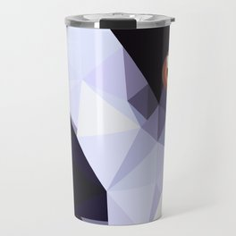 Geometric bird Tangarazinho Black Gray red Travel Mug