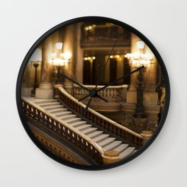 Palais Garnier Staircase -  Paris Opera House II Wall Clock