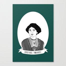Christabel Pankhurst Illustrated Portrait Canvas Print