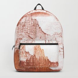 Sienna nebulous wash drawing Backpack
