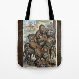Macaques for Responsible Travel Tote Bag