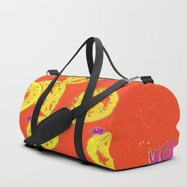 Orange cacti garden Duffle Bag