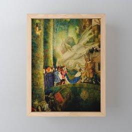 Sleeping Beauty The Aged King Pleads with the Good-Fairy Fairy Tale Portrait by Leon Bakst Framed Mini Art Print