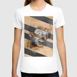 "Leonardo da Vinci's ""Head for The Battle of Anghiari"" & Jack Nicholson in Shining T-shirt"