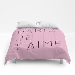 Paris je t'aime en Rose Comforters