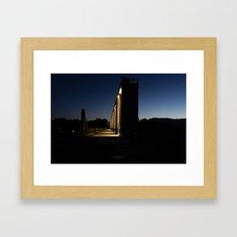 Weir Gates at Sunrise Framed Art Print
