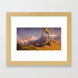 Statue of the Old God Framed Art Print