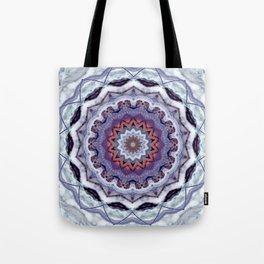 Lavender Stone Mandala Tote Bag