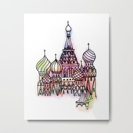 Around The World - Moscow Metal Print