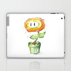 Fireflower Watercolor Painting Laptop & iPad Skin
