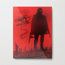 Escape from New York art Metal Print