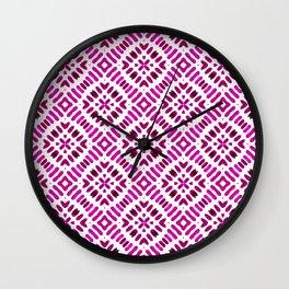 Shibori Watercolour no.7 Magenta Wall Clock