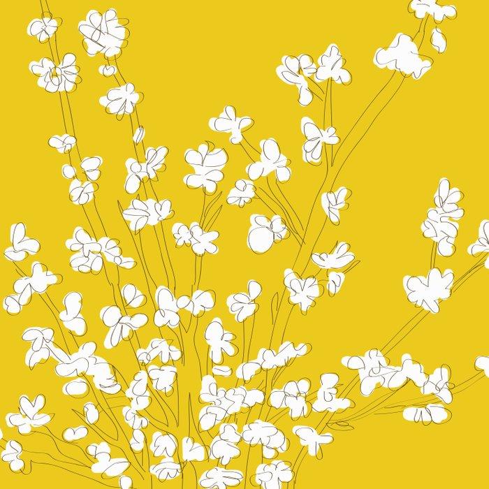 Bright Forsythia Duvet Cover