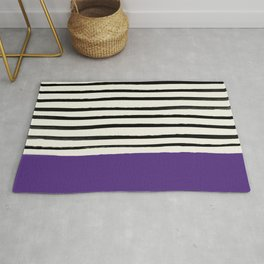 Purple Grape x Stripes Rug