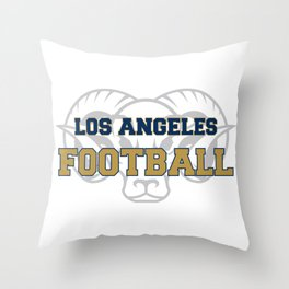 American Football In Blue Throw Pillow