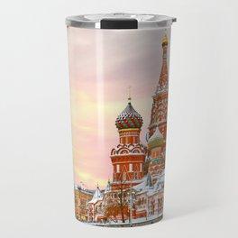 Snowy St. Basil's Cathedral Travel Mug