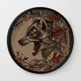 A Little Wolf Moon Wall Clock