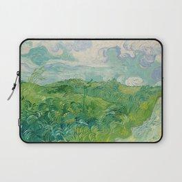 Green Wheat Fields, Auvers, 1890, Vincent van Gogh Laptop Sleeve