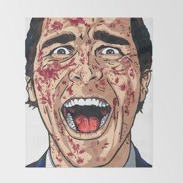 Patrick Bateman the American Psycho Throw Blanket