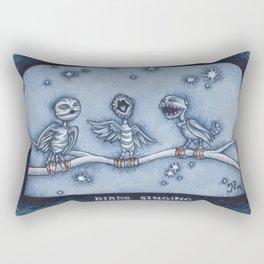 Birds Singing Rectangular Pillow