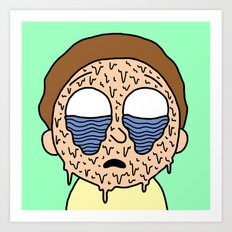 MELTING MORTY Art Print