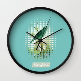 Songbird {Jade} Wall Clock