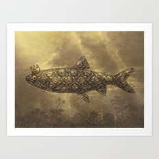 King of the Pond  Art Print