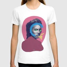 Supermodel Kate, POP art style, digitally painted T-shirt